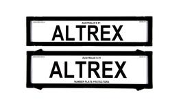 Altrex Number Plate Cover 6 Figure Black Without Lines Premium Combination NSW SA