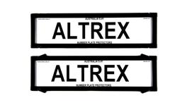 Altrex Number Plate Cover 6 Figure Black Without Lines Premium Dual Back NSW