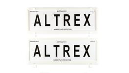 Altrex Number Plate Cover 6 Figure White Frame Without Lines