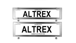 Altrex Number Plate Cover 6 Figure Chrome Style Without Lines Premium Combination NSW SA