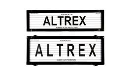 Altrex Number Plate Cover 6 Figure Black With Lines Slimline Combination