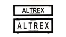 Altrex Number Plate Cover 6 Figure Black Without Lines Slimline Combination
