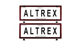 Altrex Number Plate Cover 6 Figure Red Carbon Fibre Without Lines