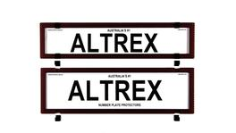 Altrex Number Plate Cover 6 Figure Red Carbon Fibre Without Lines Premium Combination NSW SA