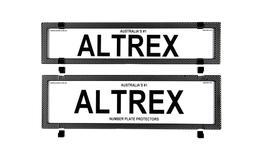 Altrex Number Plate Cover 6 Figure Carbon Fibre Without Lines Premium Combination NSW SA