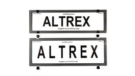 Altrex Number Plate Cover 6 Figure Silver Carbon Fibre Without Lines Slimline Combination