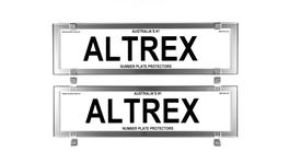 Altrex Number Plate Cover 6 Figure Chrome Style Without Lines Dual Slimline
