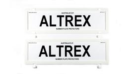Altrex Number Plate Cover 6 Figure White Without Lines Dual Slimline