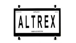 Altrex Motorbike Number Plate Cover Black Without Lines