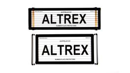 Altrex Number Plate Cover US/Slimline Combination Black With Lines