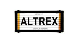 Altrex Motorbike Number Plate Cover Black With Lines
