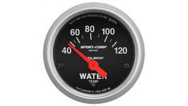 "AutoMeter Sport-Comp 2-1/16"" Water Temp Gauge 40-120C Short Sweep Electric AU3337-M"