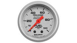 "AutoMeter Ultra-Lite 2-1/16"" Fuel Pressure Gauge 0-100 Psi Mechanical AU4312"