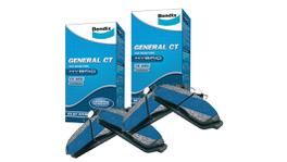 Bendix Brake Pad Set Front and Rear GCT DB1515-DB1142GCT