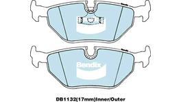 Bendix Brake Pad Set Rear EURO DB1132 EURO+ 73119