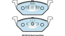 Bendix Brake Pad Set Front EURO DB1387 EURO+ 73573