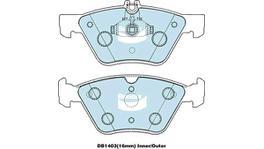 Bendix Brake Pad Set Front EURO DB1403 EURO+ 71696