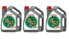 Castrol Activ 2T 2 Stroke Motorcycle Engine Oil 4L 3 Box