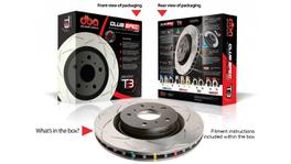 DBA Brake Rotor Slotted T3 Performance Pair DBA42510S 94488