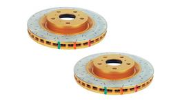 DBA Brake Rotor Drilled Slotted HD Front Pair DBA42102XS