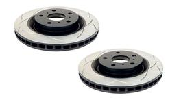 DBA T2 Slotted Brake Rotor Pair Rear DBA041S