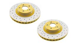 DBA Brake Rotor X-Gold Front Pair DBA242X 37077