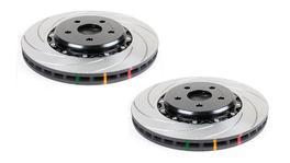 DBA Brake Rotor Slotted T3 5000 2Pc Pair DBA5654GLDTS-10