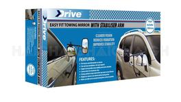 Towing Mirrors W/Suction Brace (Pair) - Drive MH3007