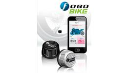 Fobo Bike Advanced Motorcycle Wireless Tyre Pressure Monitoring System (TPMS) Black Caps