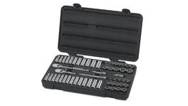 "GearWrench Socket Set 3/8"" Drive Standard & Deep 12pt BlowMold Case MET/SAE 57Pc"