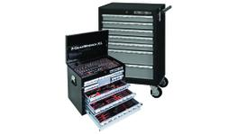 GearWrench Tool Set 199Pc + 4 Drawer Tool Chest + 7 Drawer Roller Cabinet