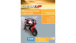 Gearup Motorcycle Cover Small/Medium 2.1x0.9x1.2m