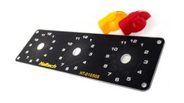 Haltech HT-010510 Triple Switch Panel Kit - Includes Yellow & Red knobs