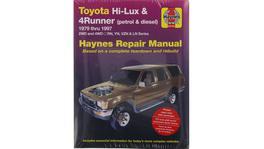 Haynes Repair Manual Suits Toyota Hi Lux 4x4 & 4x2 & 4Runner 79-97 92736