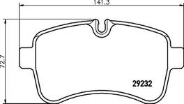 HELLA Pagid Brake Pad Set Rear C6029 234619