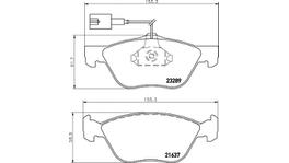 HELLA Pagid Brake Pad Set (Front & Rear) 8DB 355 007-931-8DB 355 018-291 288527