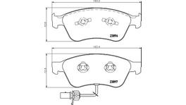 HELLA Pagid Brake Pad Set (Front & Rear) 8DB 355 009-211-8DB 355 010-971 288633