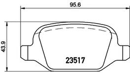 HELLA Pagid Brake Pad Set (Front & Rear) 8DB 355 018-421-8DB 355 009-361 288882