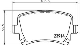 HELLA Pagid Brake Pad Set (Front & Rear) 8DB 355 010-731-8DB 355 010-601 288625