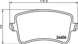 HELLA Pagid Brake Pad Set (Front & Rear) 8DB 355 020-251-8DB 355 025-381 289013