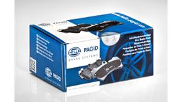 HELLA Pagid Brake Pad Set Rear T1389