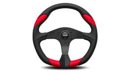 MOMO Steering Wheel Quark Black/Red 350 VQUARK350REDL