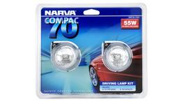 Narva Compac 70 Round Driving Lamp Kit 12V 55W - 71810 264061
