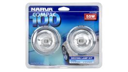 Narva Compac 100 Round Driving Lamp Kit 12V 55W - 71850