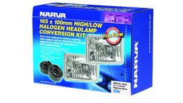 Narva H4 165X100mm Free Foam Halogen Headlamp Conversion Kit 12V 60/55W - 72018