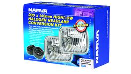 Narva H4 200X142mm Free Foam Halogen Headlamp Conversion Kit 12V 60/55W - 72026