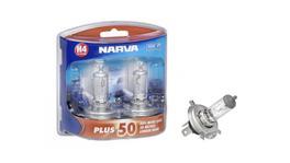 Narva H4 Globe 12 60/55W Plus 50 2 Pack 48872BL2