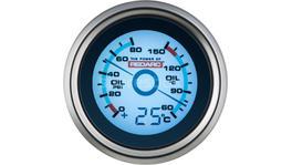 REDARC Digital Pressure & Oil Temperature Gauge G52-POT