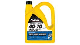 Nulon Premium Mineral Oil Extra Thick 40W70 5L 3 Box 107246