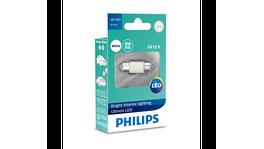 Philips Ultinon LED Festoon 30mm LED 12V White 11860ULWX1